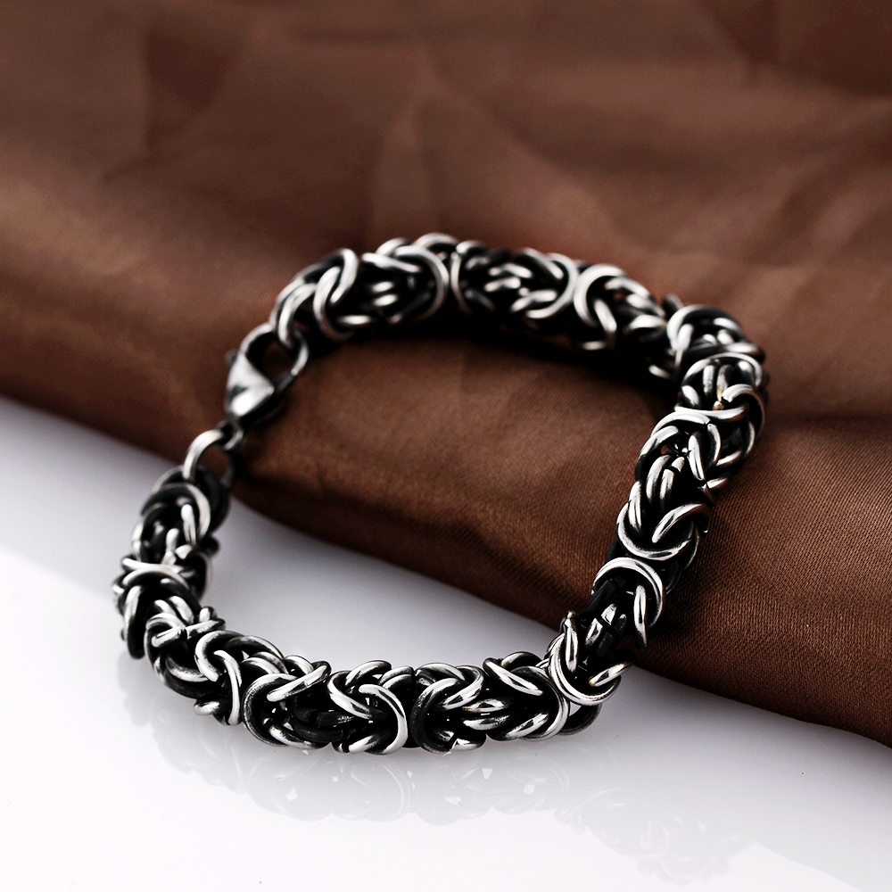 Soxy Stainless Steel Mens Bracelet Hot Sale Popcorn Chain Casual