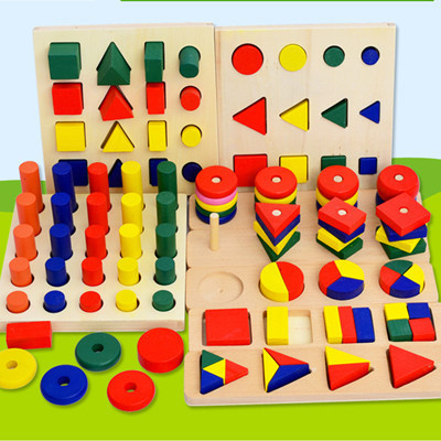 8 unids/lote montessori educativos de madera material