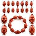 Китайский Тибетский Древний Киноварь Резные Буддизм Ювелирные Изделия Океана восемнадцать Будда Браслеты Подходят Для Мужчин и Женщин Ювелирные Изделия