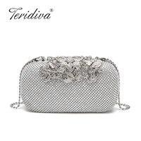 Dazzling Crystal Diamond Handmade Black Beaded Evening Purse Clutch Bag Women Wedding Prom Formal Dinner Handbag