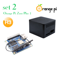 Orange Pi Zero Plus 2 H3 SET2: Orange Pi Zero Plus 2 H3+Protective Balck Case, A development board