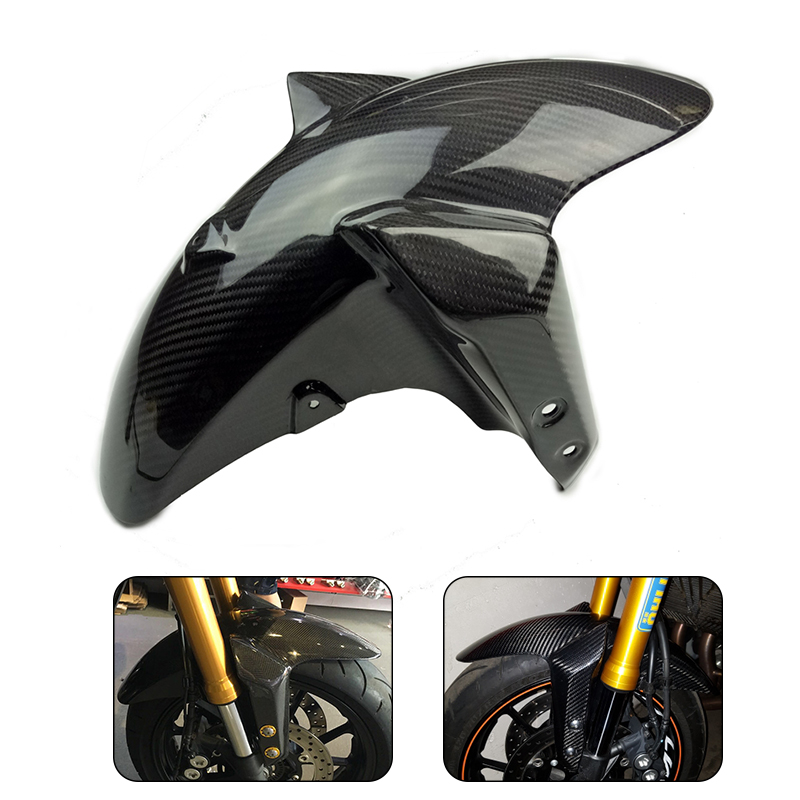 2017 For Yamaha MT-09 MT09 FZ-09 FZ09 2014 2015 2016 2017 Motorcycle 100% Real Carbon Fiber Front Fender Cover Mud Mask New for yamaha mt 07 mt 07 fz07 mt07 2014 2015 2016 accessories coolant recovery tank shielding cover high quality cnc aluminum