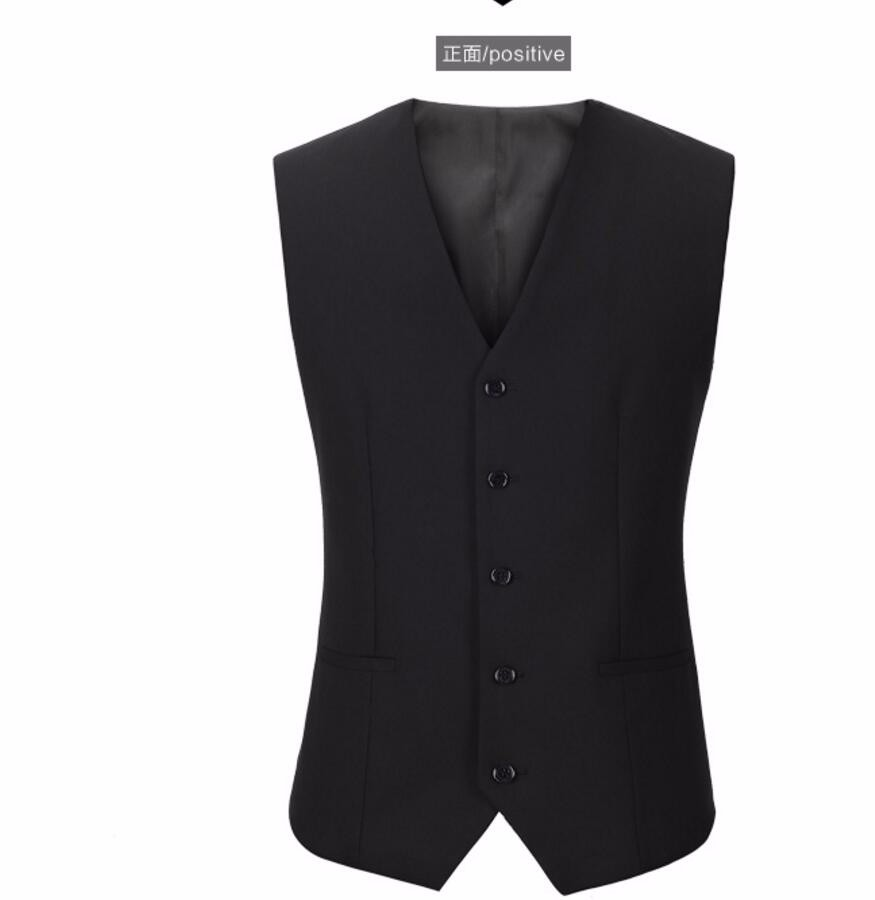 15.1 Formal occasio man suit vest custom cheap high quality waistcoat single-breasted ma3 jia3 business worker men vest