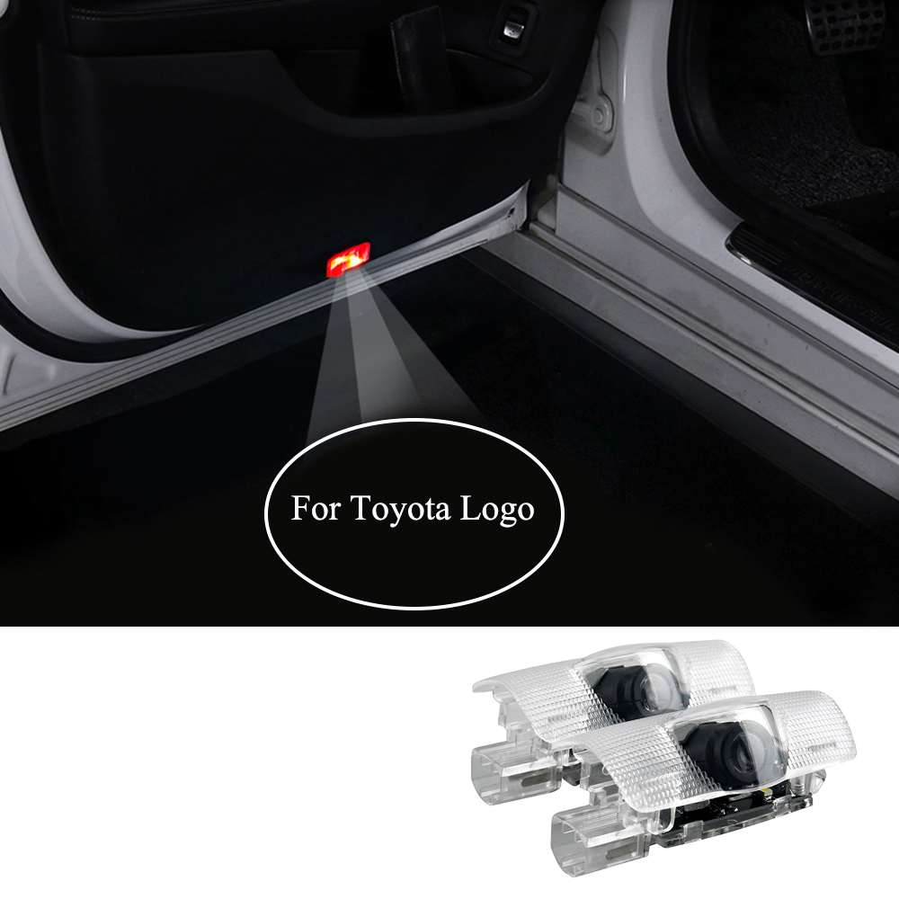For Toyota Logo Car Door Light LED Courtesy Projector Laser Ghost Shadow Lights For Avalon Camry Prius Reiz Highlander Tundra