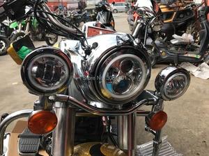 """Image 5 - 4.5 """"30 W ĐÈN LED Sương Mù Đi Đèn Phụ Trợ Đèn Lái Gắn Chân Đế Xô cho Harley FLSTC Electra Glide Ultra đường Vua"""