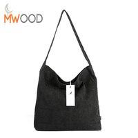 2016 Solid Color Simple Corduroy Handbag Women Fashion Vintage Autumn Winter Large Tote Ethnic Casual Shoulder