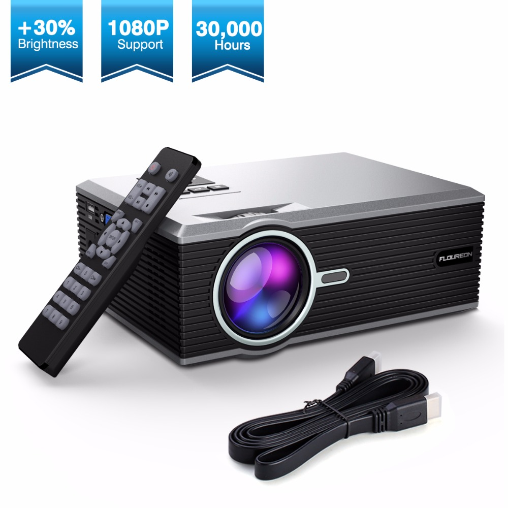 Exquizon FLOUREON Portable <font><b>Mini</b></font> LED Cinema Video Digital <font><b>HD</b></font> Home Theater <font><b>Projector</b></font> BL88 4K Beamer Proyector with USB HDMI image