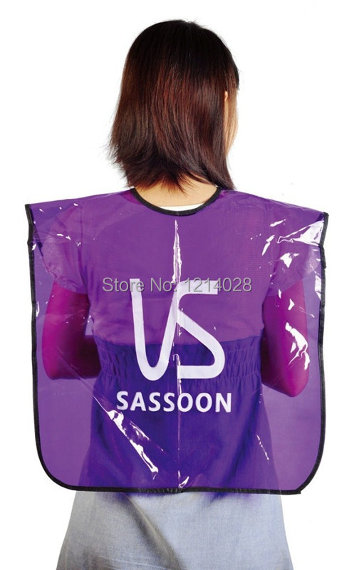 Free Shipping PVC Hair Coloring Wrap, Waterproof Hair Neck Cape For Baber,Professional Hair Perm Gown In Famous Brand VS-08