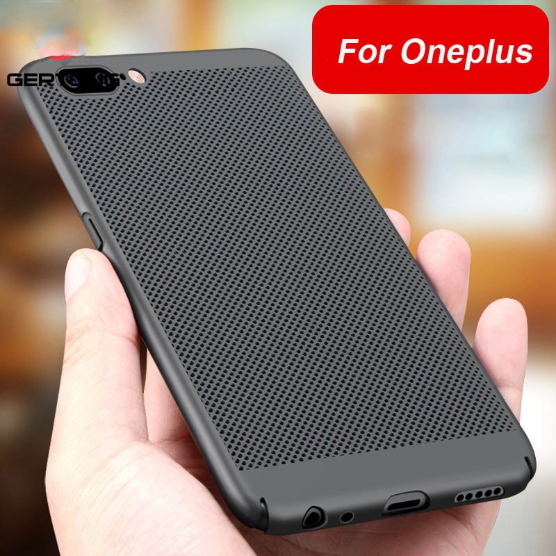 CASPTM Heat Dissipation Case For <font><b>Oneplus</b></font> <font><b>5</b></font> 5T Back Cover For One Plus 1+<font><b>5</b></font> <font><b>A5000</b></font> 5T Hard PC Cooling Protector Cases fundas shell image