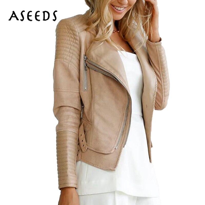 Designer zipper daim veste dames femme hiver manteaux noir faux PU cuir veste femmes moto biker vestes streetwear