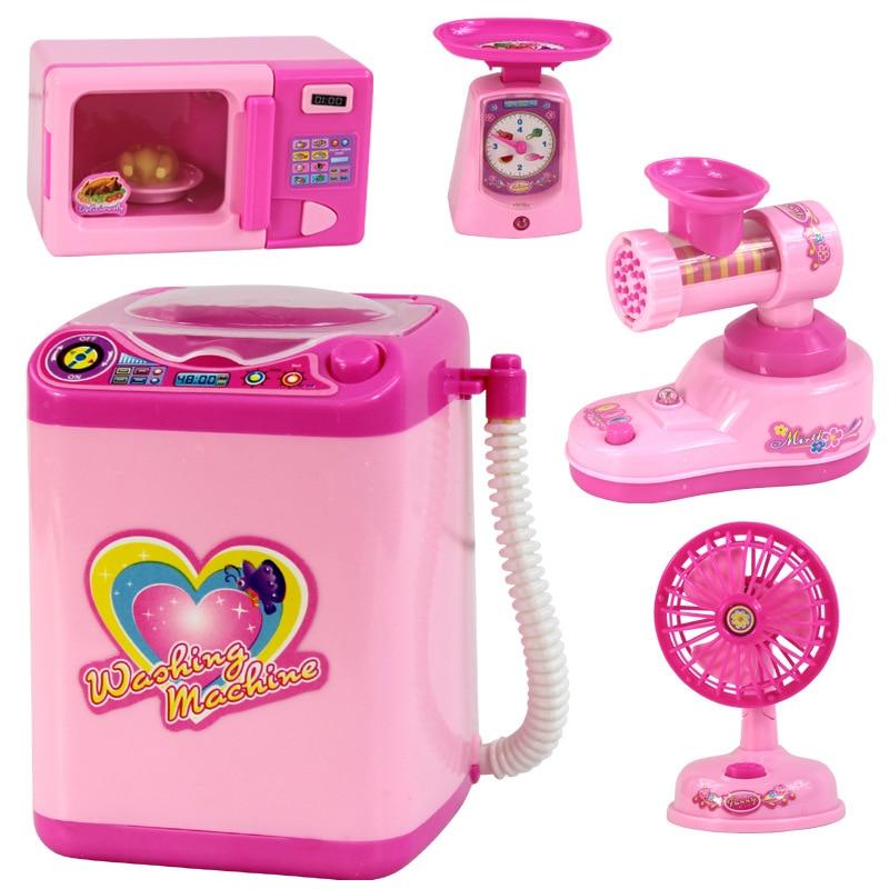 Cozinhas de Brinquedo toy bebê meninas fingir brinquedos Ype : Meat Grinder Juicer Electric Iron Sewing Machine Water Dispenser Rice