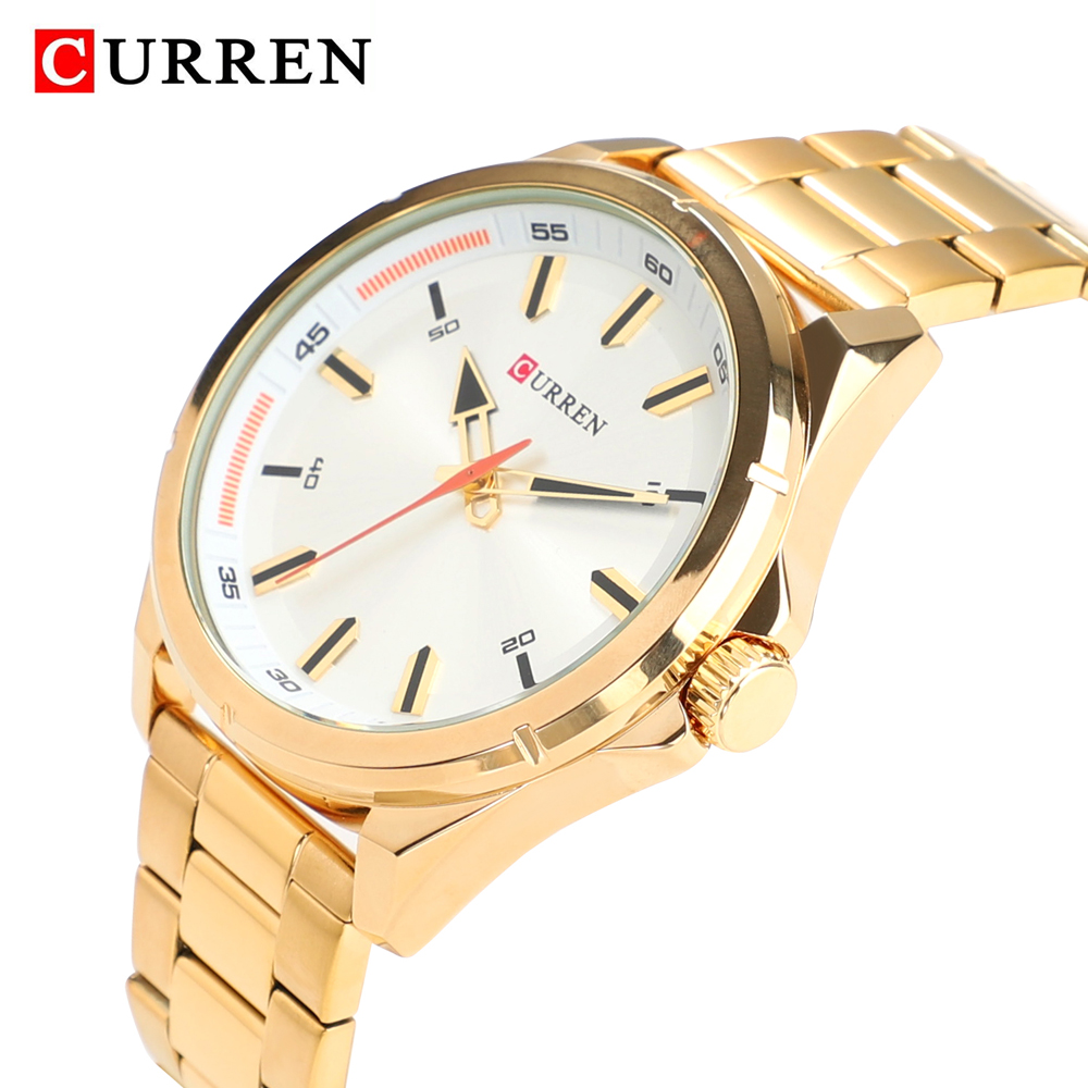 Gold Watch Man Famous Brand Curren Quartz Watch For Men Stainless Steel Mens Wrist Watches Waterproof Casual Male Clock relogioGold Watch Man Famous Brand Curren Quartz Watch For Men Stainless Steel Mens Wrist Watches Waterproof Casual Male Clock relogio