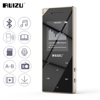 RUIZU D05 Metal Bluetooth MP3 Player Portable Audio 8GB Sport Mp3 Music Player With Built in Speaker FM Radio Support TF Card