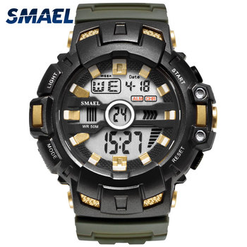 LED Bracelet Digital Waches SMAEL Brand Luxury Clock Men Military Watches Alarm relogio montre1532B Men Watches Sport Waterproof image