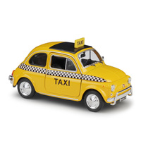 Welly 1:24 Nuova Fiat 500 Taxi Diecast Alloy Model Car