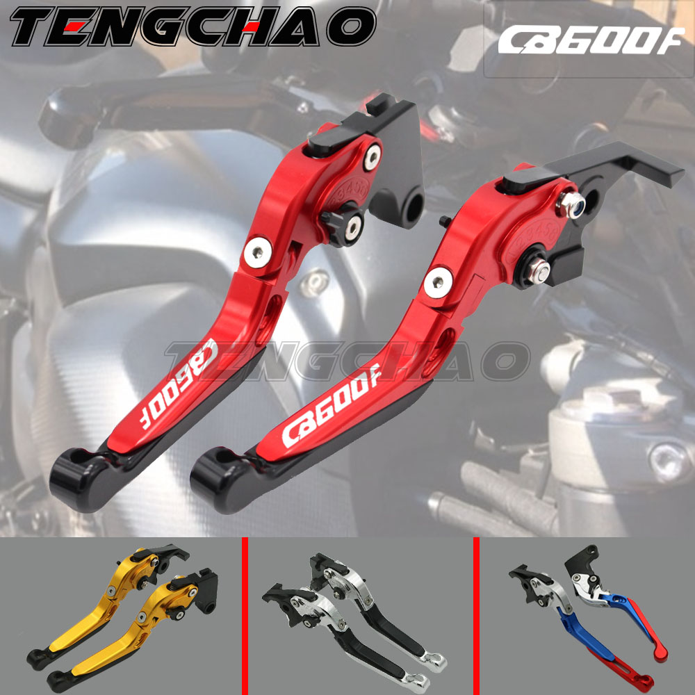 !With Logo CNC Motorcycle Brake Clutch Levers For <font><b>Honda</b></font> CB600F CB <font><b>600</b></font> F <font><b>Hornet</b></font> 2007-2013 <font><b>2008</b></font> 2009 2010 2011 2012 image