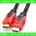 Новые Премиум High Speed 1.4 В 3D HDMI Кабель 1.5 М/5FT M/M Для 1080 P HDTV PS3 Xbox Бесплатная Доставка