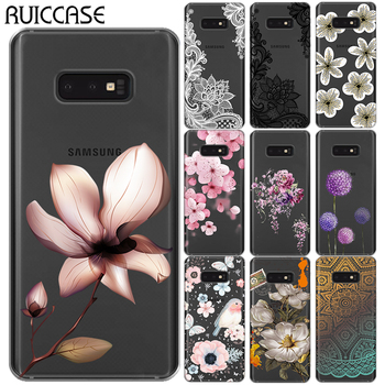 For Samsung Galaxy A10 A30 A50 M10 M20 M30 S10E S10 Plus E Lace Flower Silicone Phone Case Sexy Retro Floral Soft TPU Back Cover image
