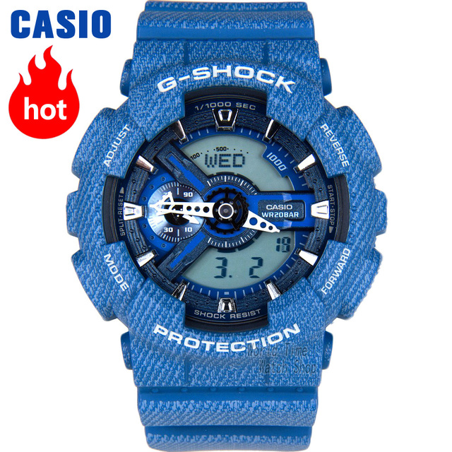 ff305f27832 Esportes relógio de quartzo dos homens relógio Casio G-SHOCK denim azul  multi-função