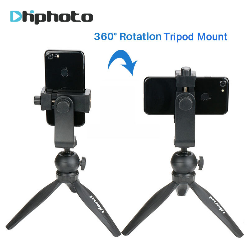Ulanzi Vertical Mini Tripod For IPhone Max Xs X Huawei Portable Table Tripod Stand With Ballhead For Camera Phone Mount Holder