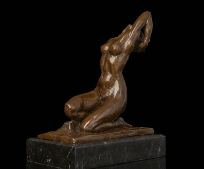 Art Deco Sculpture Nude Woman Naked Girl Bronze Statue R0712 Discount 35% statue of liberty width statue of liberty fabric statue lighting - title=