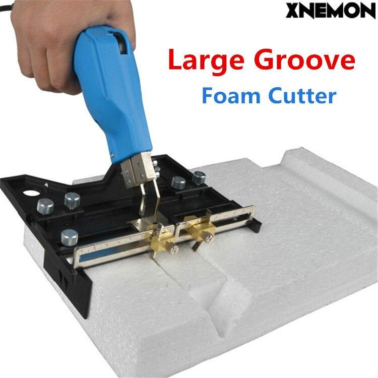 XNEMON большой паз электрический горячий нож, резак для пены тепла провода машина для нарезания канавок в режущий инструмент пены ручка Губка