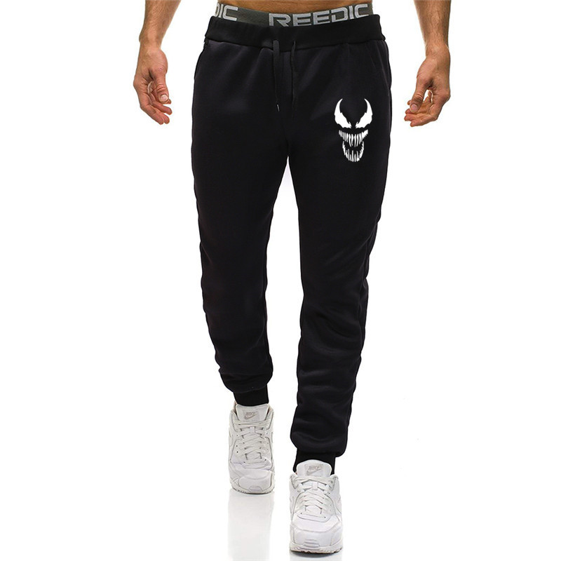Fall Brand Joggers Venom Pants Men Cool Comic Originality Black Sweatpants Men Gyms Muscle Fitness Workout Bodybuilding Pant