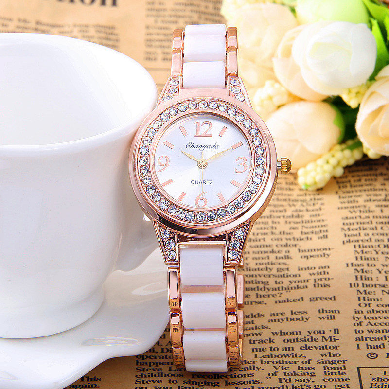 Relogio Feminino Fashion Women s Watches Simulated Ceramics Hodinky Bracelet Watch Lady Quartz watch Wrist Watch