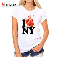 Women T-shirt Funny Letters Graphic Tee 3D Print T Shirt Short Sleeve Halloween Fashion White T-shirts Casual Tops