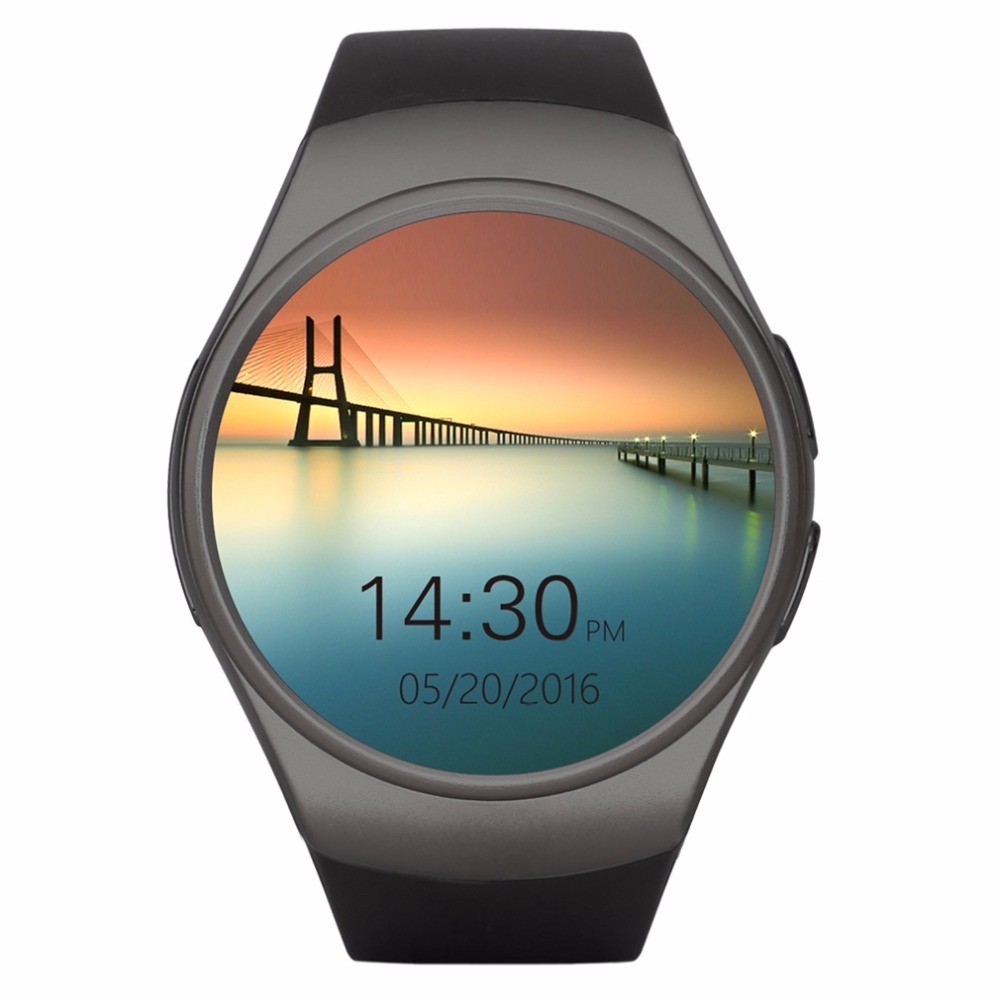 KW18 Full Round IPS Heart Rate Smart Watch MTK2502 BT4.0 Smartwatch for IOS and Android For Samsung Intelligent Watch New