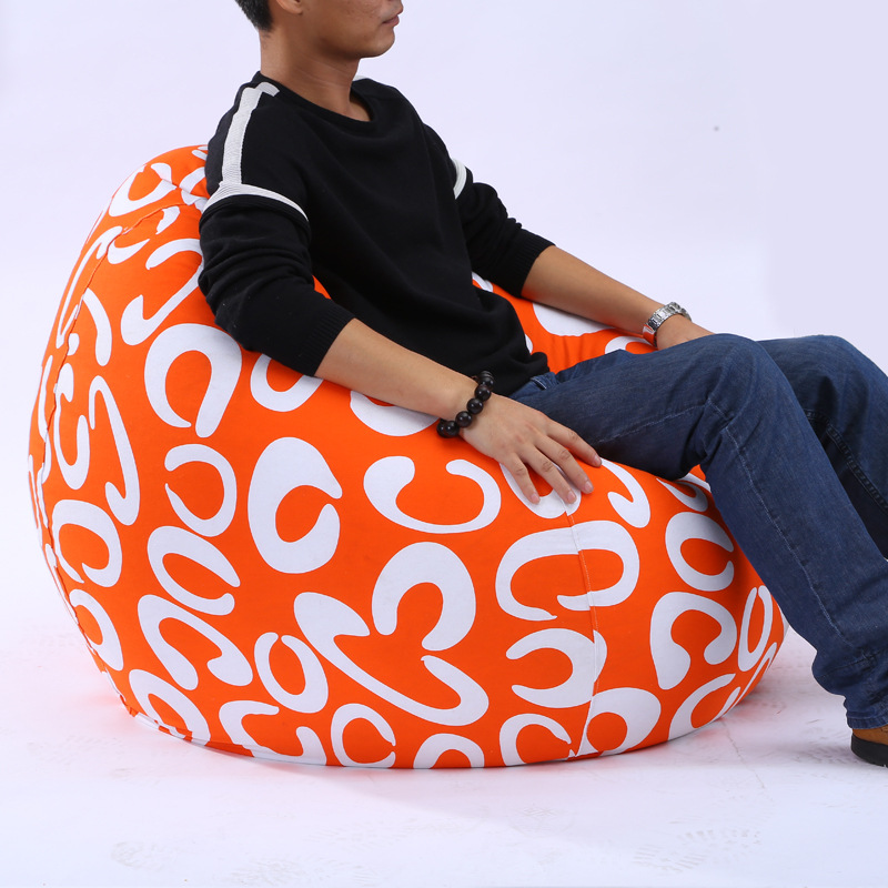 Printed Bean Bag Lounger Sofa Cover Chairs Lazy Bean Bag Sofa Without Filling Outdoor Pouf Puff Couch Seat Tatami Living RoomPrinted Bean Bag Lounger Sofa Cover Chairs Lazy Bean Bag Sofa Without Filling Outdoor Pouf Puff Couch Seat Tatami Living Room