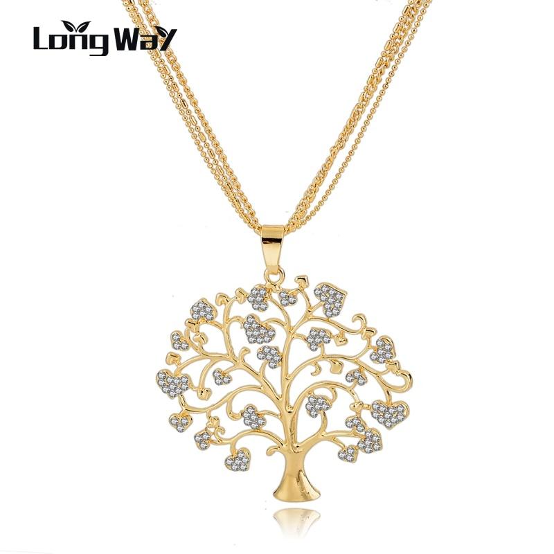 LongWay Unique Crystal Tree Of Life font b Necklaces b font font b Pendants b font