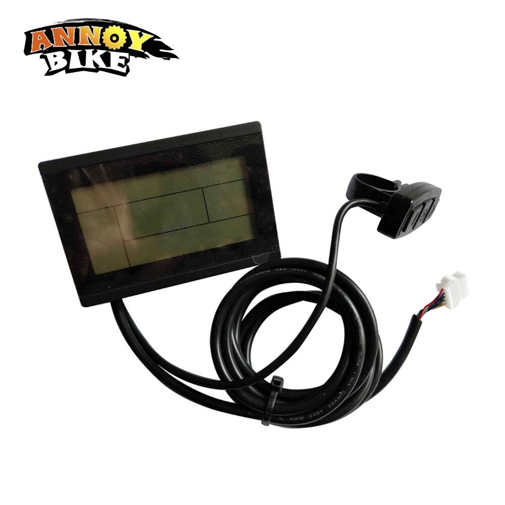 ЖК-дисплей для электрического велосипеда 24 В в В 36 В 48 В 60 в В 72 в умный ЖК-дисплей KT 3 Панель управления E-Bike конверсионные детали черный Беспл...