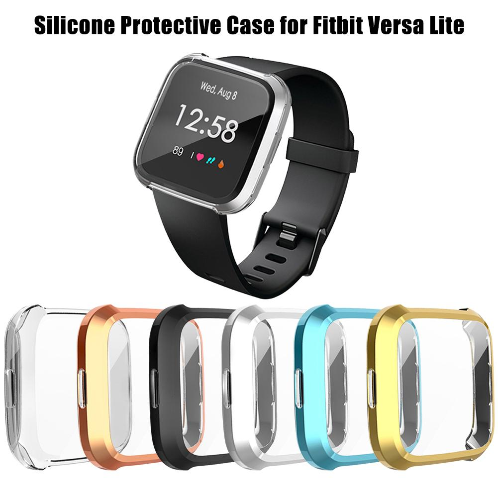 Case Protective-Case Versa-Lite Fitbit Silicone TPU for Tpu-Light Electroplated Suitable-For
