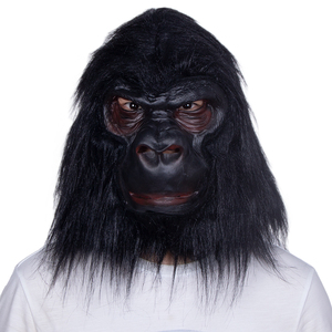 Image 2 - Halloween Latex Black Gorilla Mask Adult Full Face Funny Animal Mask Latex Halloween Party Cosplay Costume