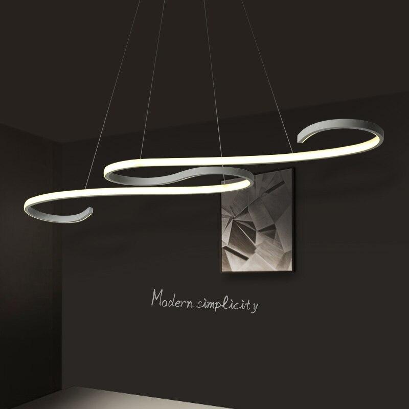 현대 LED 펜던트 조명 거실 식당 DIY 매달려 조명 AC85 ~ 265 볼트 알루미늄 장식 펜던트 램프 무료 배송