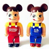 65CM 1000% Be@rBrick Peko Girl OriginalFake Brian Street Art Vinyl Action Figure Collectible Model Toy S282