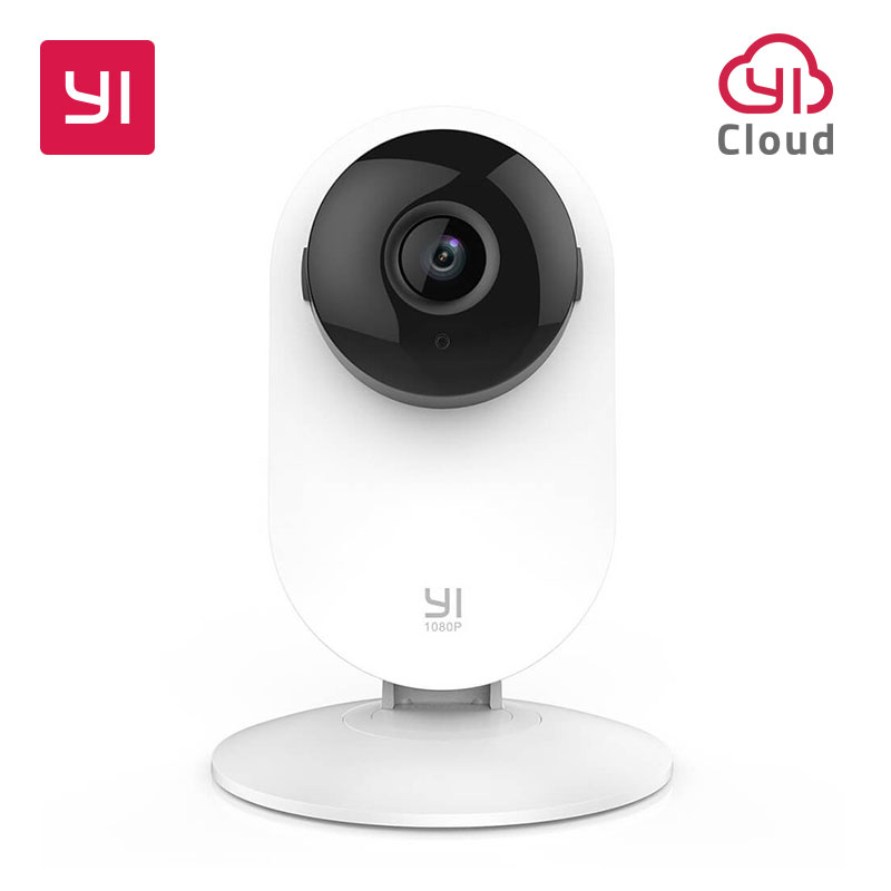 YI Home Camera 1080p HD Video Monitor IP Wireless Network Surveillance Security Night Vision Alert Motion Detection White