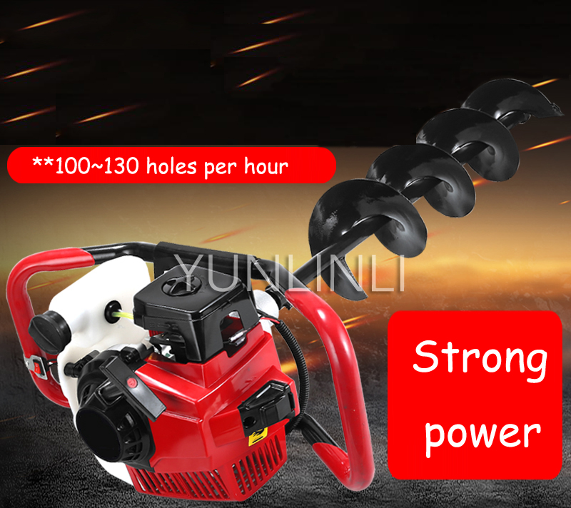 Digging Tool Gasoline Hole Punching Digging Machine Engine Drilling Machine High Power Two stroke 52cc 68cc 71cc Power Tool Sets     - title=