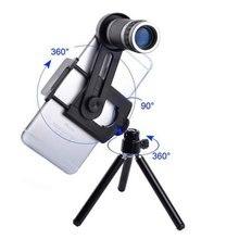 Cheaper KMAX Universal 8X Zoom Lens Optical Telescope With Mini Tripod For Samsung iPhone Xiaomi Redmi Note Mobile Phone Lenses