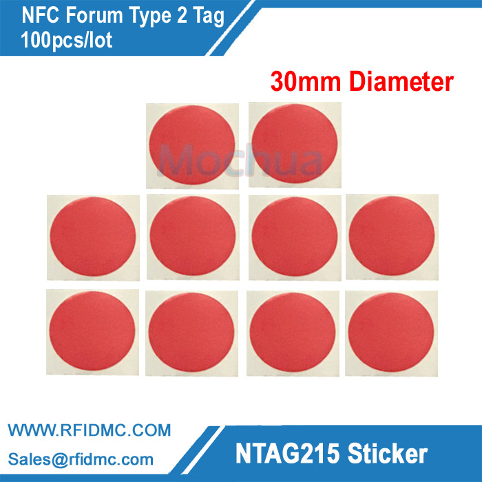 NTAG215 lable for TagMo Ntag215 tag, Ntag215 sticker NFC Forum type2 tag with color printing