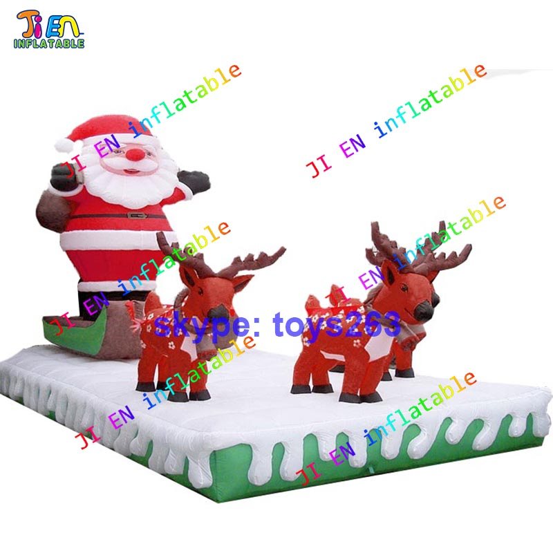 4x3m Free Air Shipping Inflatable Santa Claus Inflatable