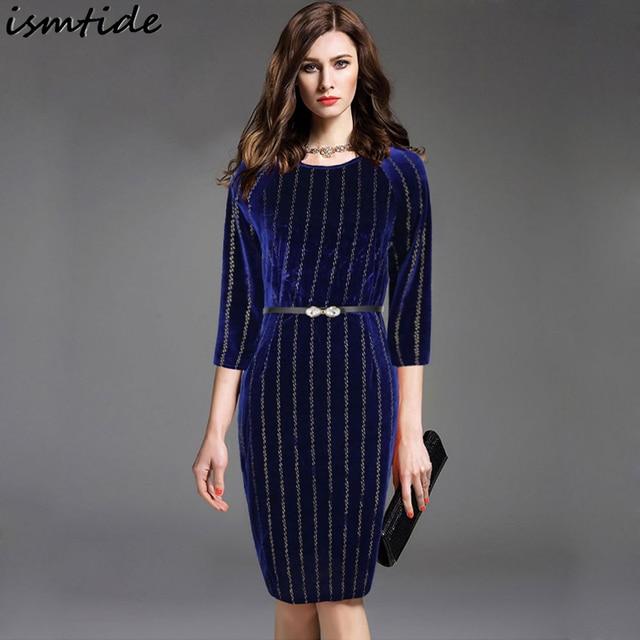 Vestido terciopelo azul oscuro