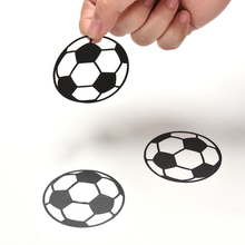 20Pcs/Set New Football Wall Stickers Carved Art Cartoon Stickers Wall Decals For Kids Room Home Decorations Wholesale(China)