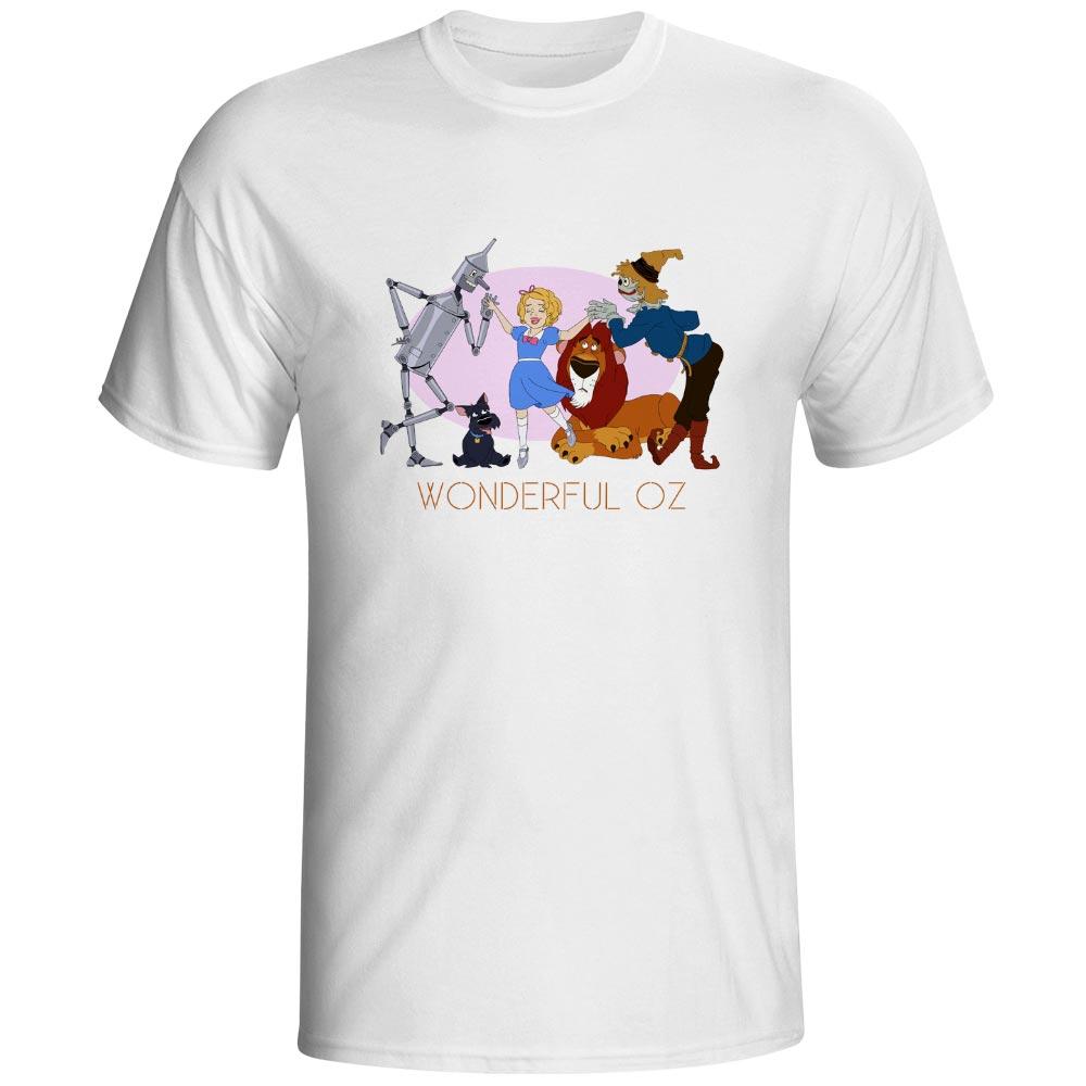 Волшебник из страны Оз Футболка Dorothy пугало железным дровосеком Лев Забавный Дизайн новинка футболка аниме печати Для женщин Для мужчин топ
