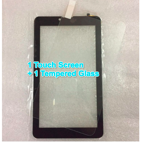 Witblue Tempered Glass + New For 7 TurboKids Turbo Kids 3G New Tablet touch screen panel Digitizer Glass Sensor replacement