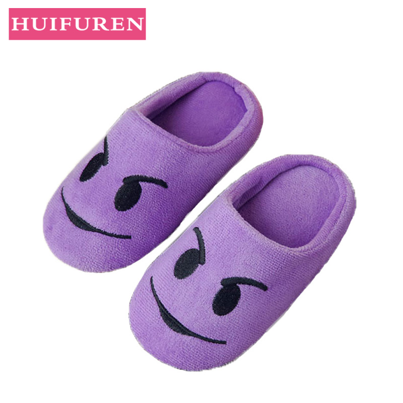 Women Slippers Velvet Indoor Floor Expression Sneakers Cute