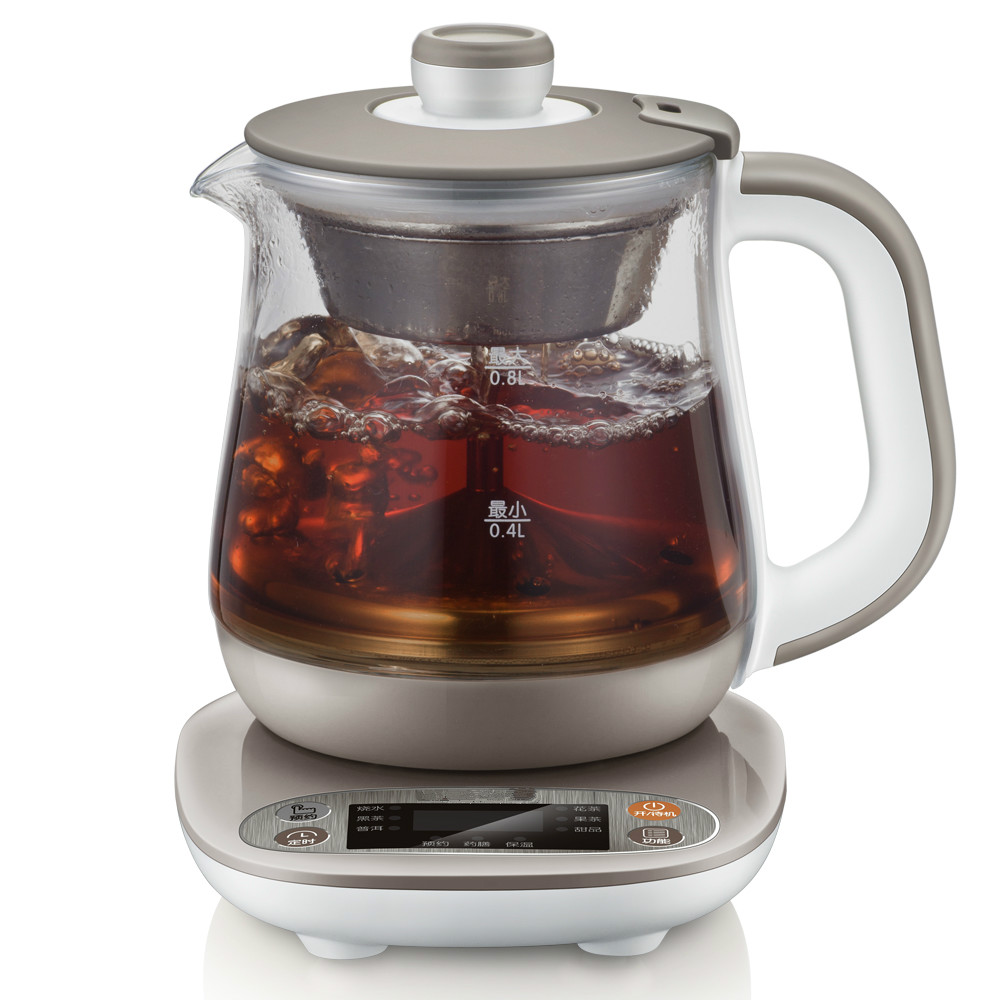 NEW Tea kettle black tea pu 'er glass electric office insulation bubble teapot automatic health pot black tea brewed machine glass automatic steam boiling pu er flower teapot insulation electric kettle