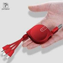 OATSBASF 3 in 1 Micro USB Type C 8 Pin for iPhone XS Max X 8