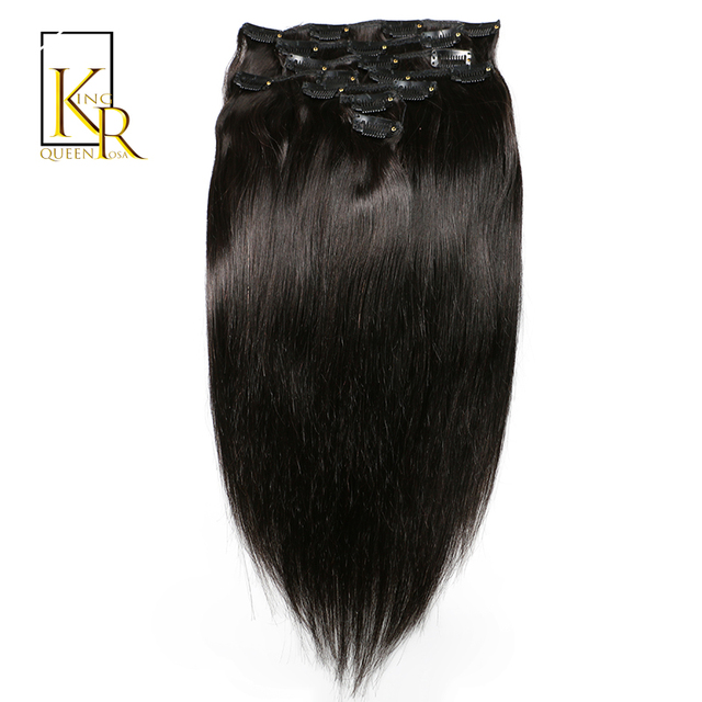 Clip In Hair Extension Remy Brazilian Straight Human Hair Weave